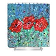 Joy Of Poppies Shower Curtain