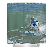 Joy Of Surfing - Four Shower Curtain