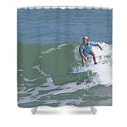 Joy Of Surfing - Three Shower Curtain