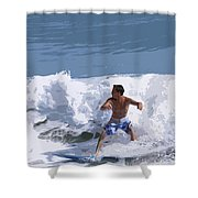 Joy Of Surfing - Two Shower Curtain
