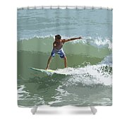 Joy Of Surfing One Shower Curtain
