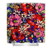 Joyful Flowers Shower Curtain