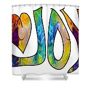 Joyful Occasions Abstract Inspirational Art By Omaste Witkowski Shower Curtain