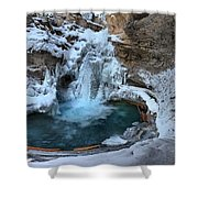 Johnston Canyon Winter Delight Shower Curtain