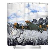 Ju52 - Alpine Passage Shower Curtain