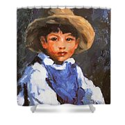 Juan Also Known As Jose No 2 Mexican Boy 1916 Shower Curtain