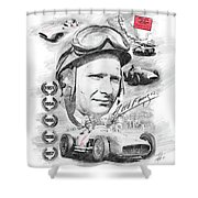 Juan Manuel Fangio Shower Curtain