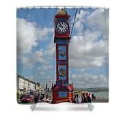 Jubilee Clock - Weymouth Shower Curtain