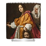Judith Holding The Head Of Holofernes Shower Curtain