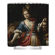Judith With The Head Of Holofernes 2 Shower Curtain