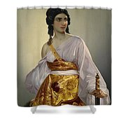 Judith With Thedecapitated Head Of Holofernes  Shower Curtain