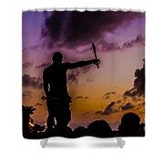 Juggler At Sunset Shower Curtain