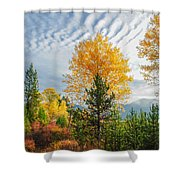 Jughandle Mountain Shower Curtain