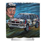 Juha Kankkunen Shower Curtain