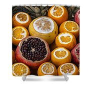 Juice Stand Fruits Shower Curtain