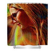 Julee Ross Carbon Girls Shower Curtain