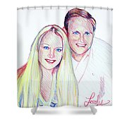 Jules And Tim Shower Curtain