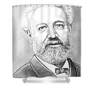 Jules Verne Shower Curtain by Murphy Elliott