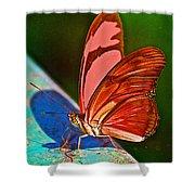 Julia Heliconian Butterfly In Iguazu Falls National Park-brazil Shower Curtain