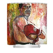 Julio Cesar Chavez Shower Curtain