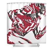 Julio Jones Atlanta Falcons Pixel Art 11 Shower Curtain