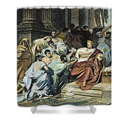 Julius Caesar (100-44 B.c.) Shower Curtain