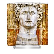 Julius Caesar At Vatican Museums 2 Shower Curtain