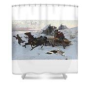 Julius Vesin Bulgarian The Sleigh Ride Shower Curtain