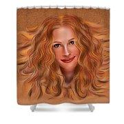 Julorobani - Julia Roberts Portrait Shower Curtain