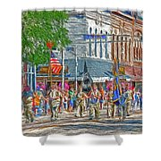 July 4th Color Guard Shower Curtain