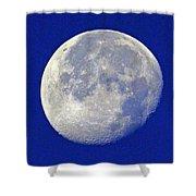 D6b6303-july 4th Moon 2015  Shower Curtain