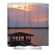 July Evening Shower Curtain