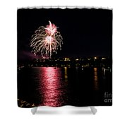 July Fireworks Shower Curtain