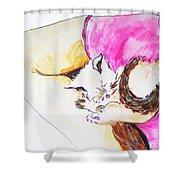 July Kitty In Rachaels Lap Shower Curtain
