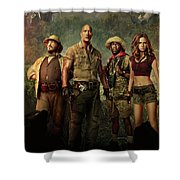 Jumanji Welcome To The Jungle 2.0 Shower Curtain