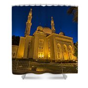 Jumeirah Mosque In Dubai, Uae Shower Curtain