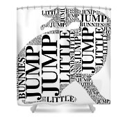 Jump Little Bunnies Jump Shower Curtain