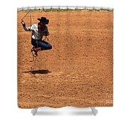 Jump Rope Cowboy Style Shower Curtain