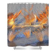 Jumped Over The Freeway - Dancing California Fires Shower Curtain