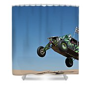 Jumping Hulk Shower Curtain