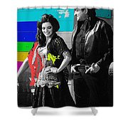June Carter Cash Johnny Cash In Costume Old Tucson Arizona 1971-2008 Shower Curtain