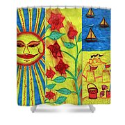 June July August Shower Curtain