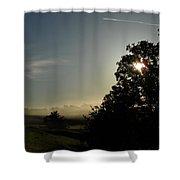 June Morning Fog Shower Curtain