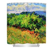 June Orchard Shower Curtain