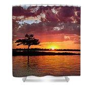 June Sunset At Detroit Point Shower Curtain