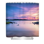 June Sunset On The River Shower Curtain