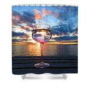 June Sunset Over Wolfe Island Shower Curtain