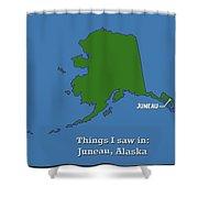 Juneau Alaska Shower Curtain