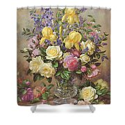 June's Floral Glory Shower Curtain
