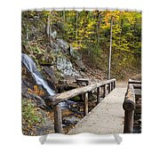 Juney Whank Falls And A Place To Rest Shower Curtain